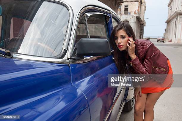 sexy young woman in havana, cuba. - beautiful women bent over stock photos and pictures