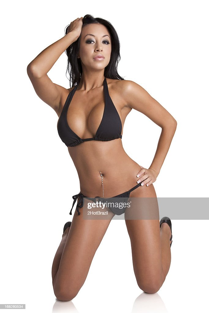 23a6c300a6 Sexy Young Woman Posing in a Bikini - Isolated   Stock Photo