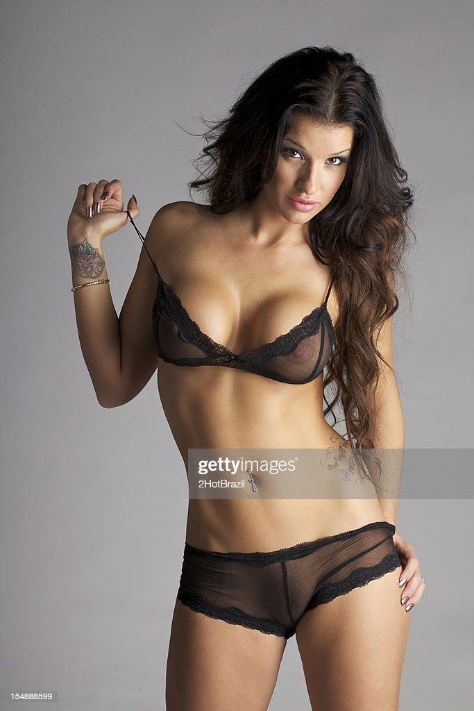 woman wearing no panties