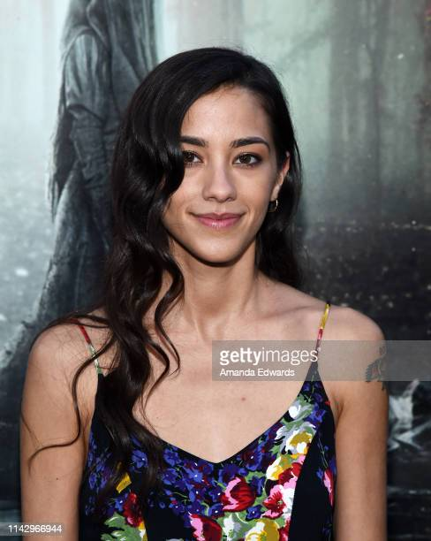 Seychelle Gabriel arrives at the premiere of Warner Bros' The Curse Of La Llorona at the Egyptian Theatre on April 15 2019 in Hollywood California