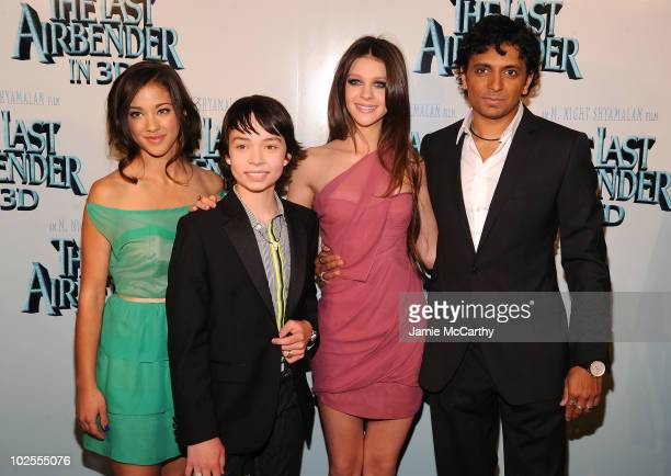Seychelle Gabriel Noah Ringer Nicola Peltz and M Night Shyamalan attend the premiere of 'The Last Airbender' at Alice Tully Hall on June 30 2010 in...