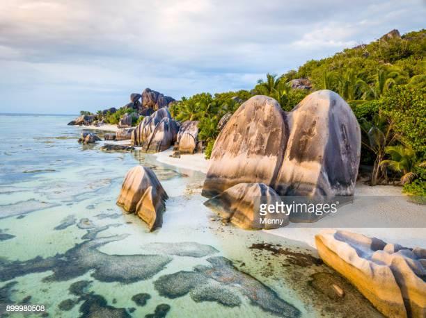 seychelles anse source d'argent beach la digue island - boulder county stock pictures, royalty-free photos & images