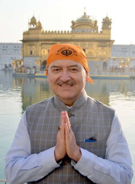 Seychelles High Commissioner in India Philippe Le Gall paying obeisance at Golden Temple on February 8 2018 in Amritsar India