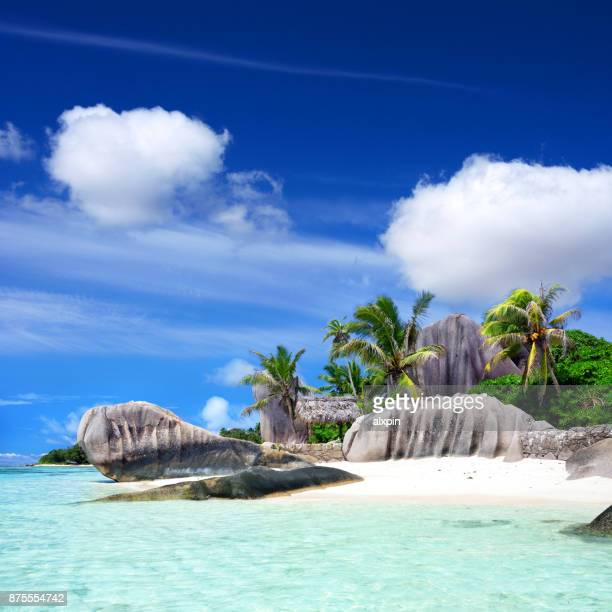 seychelles seascape - seychelles stock pictures, royalty-free photos & images