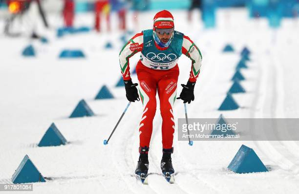 Seyd Seyed Sattar of Iran during the CrossCountry Skiing mens' Sprint Classic Qualificationon on day four of the PyeongChang 2018 Winter Olympic...