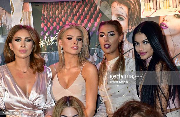 Seyda Sorgec Shirin David Senna Guemmour and guests attend the URBAN DECAY Vice Lipstick Launch at Prince Charles Club on July 7 2016 in Berlin...