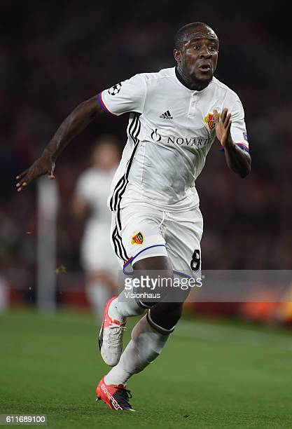 Seydou Doumbia of Basel during the UEFA Champions League match between Arsenal FC and FC Basel 1893 at The Emirates Stadium on September 28 2016 in...