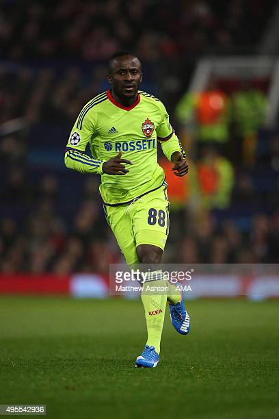 Seydou Doumbia of CSKA Moscow during the UEFA Champions League match between Manchester United and PFC CSKA Moskva on November 3 2015 in Manchester...