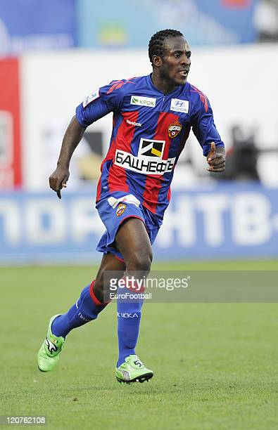 Seydou Doumbia of FC CSKA Moscow in action during the Russian Football League Championship match between FC CSKA Moscow and FC Zenit StPetersburg at...