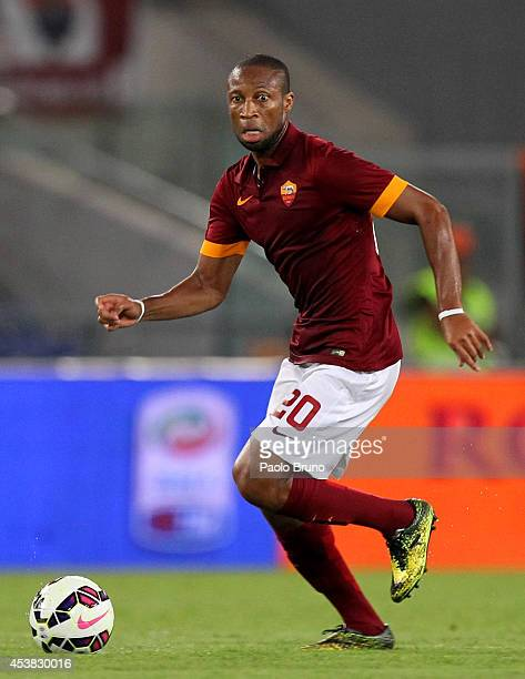 Seydou Keita of AS Roma in action during the preseason friendly match between AS Roma and Fenerbahce SK at Stadio Olimpico on August 19 2014 in Rome...
