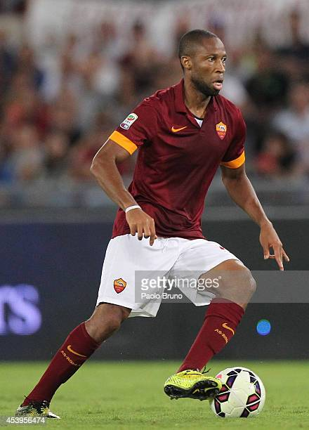 Seydou Keita of AS Roma in action during the preseason friendly match between AS Roma and Fenerbache SK at Stadio Olimpico on August 19 2014 in Rome...