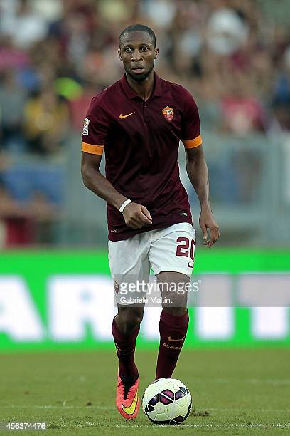 Seydou Keita of AS Roma in action during the Serie A match between AS Roma and Hellas Verona FC at Stadio Olimpico on September 27 2014 in Rome Italy