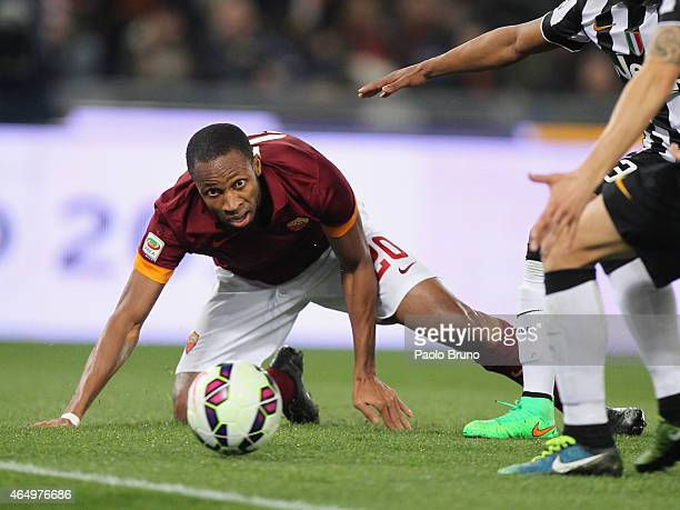Seydou Keita of AS Roma in action during the Serie A match between AS Roma and Juventus FC at Stadio Olimpico on March 2 2015 in Rome Italy
