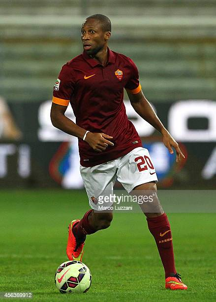 Seydou Keita of AS Roma in action during the Serie A match between Parma FC and AS Roma at Stadio Ennio Tardini on September 24 2014 in Parma Italy