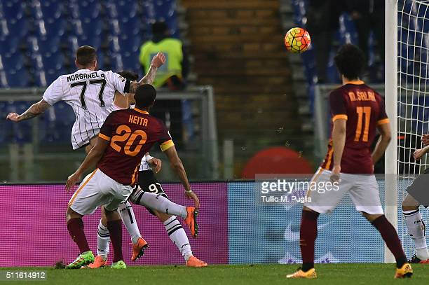 Seydou Keita of Roma scores his team's second goal during the Serie A match between AS Roma and US Citta di Palermo at Stadio Olimpico on February 21...
