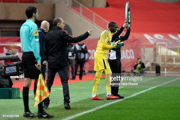 Seydou Sy of Monaco during the Ligue 1 match between AS Monaco and Lyon at Stade Louis II on February 4 2018 in Monaco