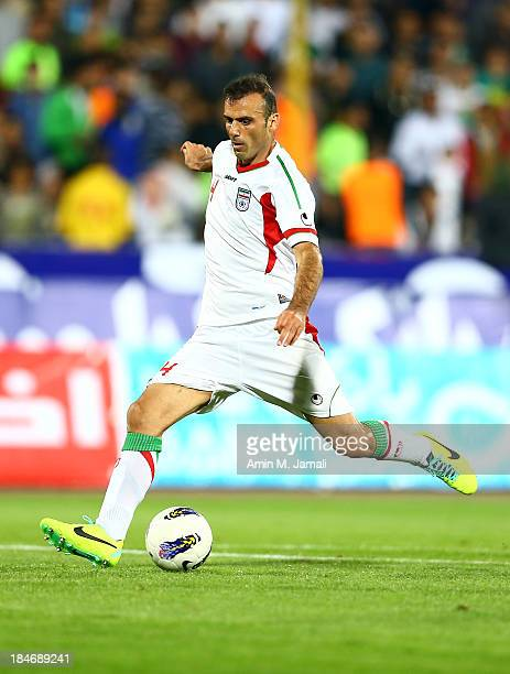 Seyed Jalal Hoseini during AFC Asian Cup Qualifiers between Iran and Thailand at Azadi Stadium Tehran Iran on October 15 2013 in Tehran Iran