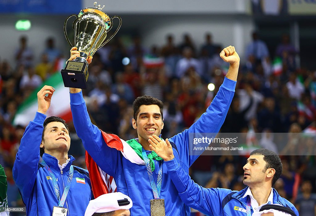 Seyed Mohammad Mousavi during 17th Asian Men's Volleyball Championship between Iran And Korea on October 6, 2013 in Dubai, United Arab Emirates.