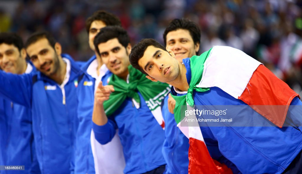Seyed Mohammad Mousavi poses for Photographer during 17th Asian Men's Volleyball Championship between Iran And Korea on October 6, 2013 in Dubai, United Arab Emirates.