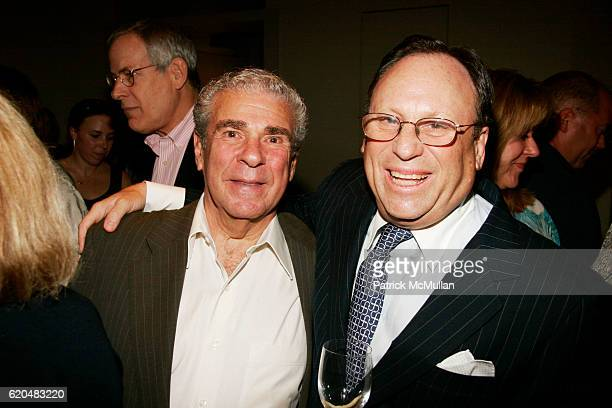 Seymour Alpert and Jim Hill attend The Celebration of MARK ALPERT'S Debut Thriller FINAL THEORY at The BerryHill Gallery on June 10 2008 in New York...