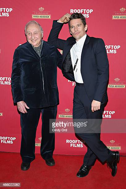 Seymour Bernstein and Ethan Hawke attend as Champagne Piper-Heidsieck and Rooftop Films present a special preview of Ethan Hawke's new documentary...