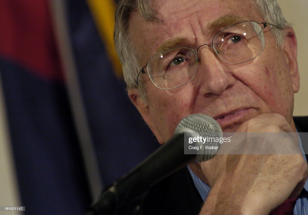 JUNE 3, 2005_DENVER, CO_ Seymour Hersh of The New Yorker speaking during on, Exposing the secrets of the military and the war on terrorism, during the annual conference of Investigative Reporters and Editors in downtown Denver, CO. (CRAIG F. WALKER/THE DE : News Photo