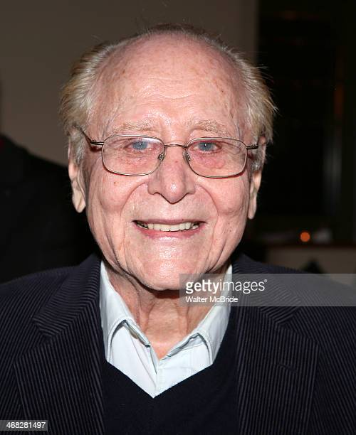 Seymour Red Press celebrates his birthday ay the closing night reception for the Encores production of 'Little Me' at the New York City Center on...