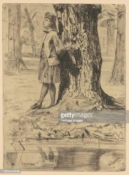 Seymour Standing Under a Tree, 1858/1859. Artist James Abbott McNeill Whistler.