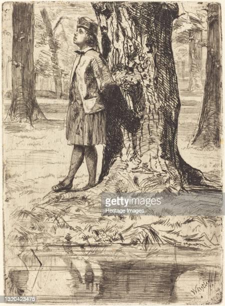 Seymour Standing under a Tree, 1859. Artist James Abbott McNeill Whistler.