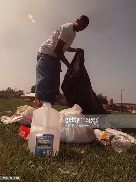 SFCleanup30705JLFor 19 year old Erik Gardner of the football team The day after the 4th of July was a day to clean the CSUN football field as...