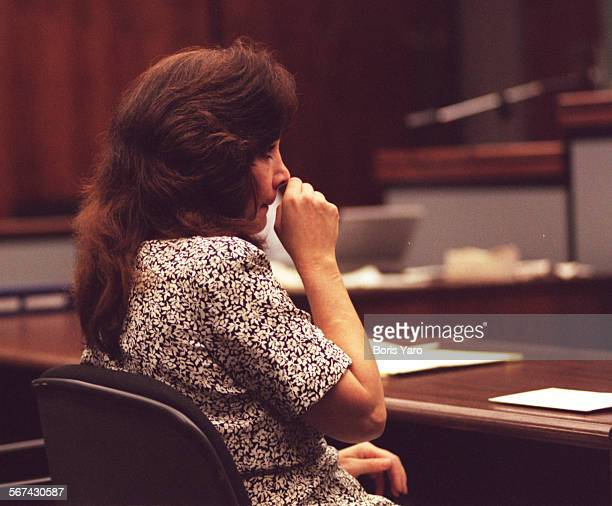 SFDrunk#10905BY–VAN NUYS–Susan Conkey Rhea weeps during sentencing phase of her trial for second degree murder in Van Nuys Superior Court Judge Bert...