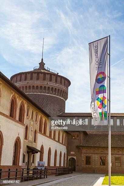 sforza castle in milan (italy) - pjphoto69 個照片及圖片檔