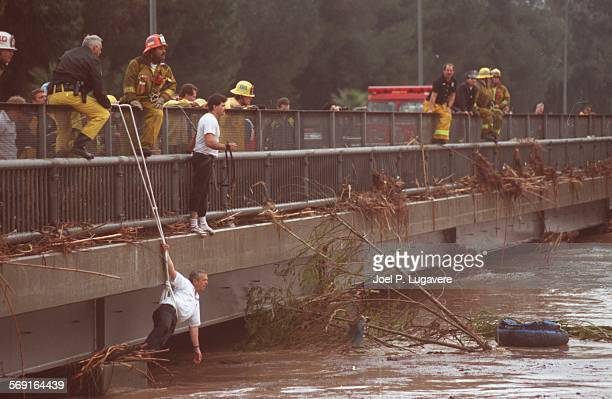 SFSwift151015JLThis picture was taken on Feb 1292 at the Balboa Blvd overcrossing of the Los Angeles River as firefighters wait for Adam Bishoff to...