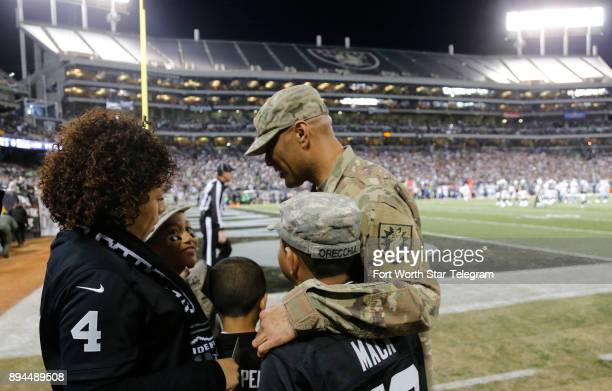 Sgt First Class William Orecdhia surprises his family on the field as her returns from deployment in Afghanistan for the holidays as the Dallas...