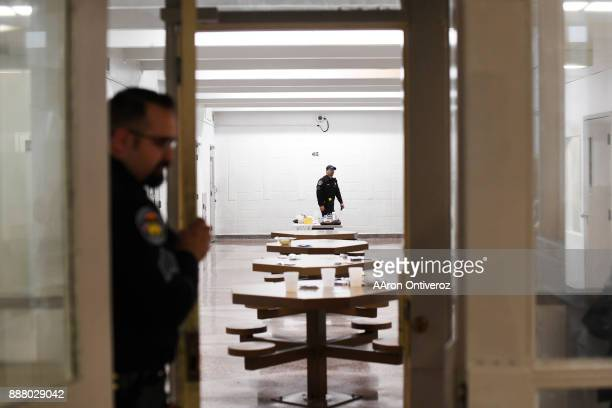 Sgt Jonathan Zamora prepares to lock down a block of inmates the Pueblo County Detention Center on Wednesday December 6 2017 The jail which is...