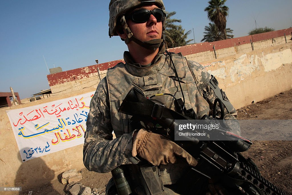 U.S. Army Patrols In Sadr City : News Photo
