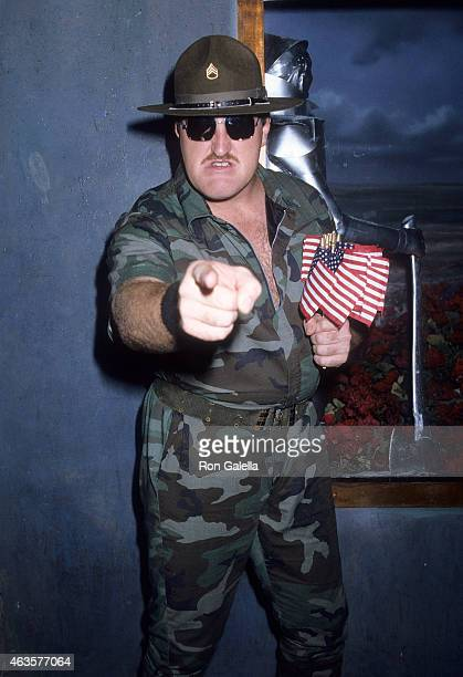 Sgt Slaughter attends the Party for Raeanne Rubenstein's New Book Wrestlin' Pro Wrestling CloseUp on October 1 1985 at Area Nightclub in New York City