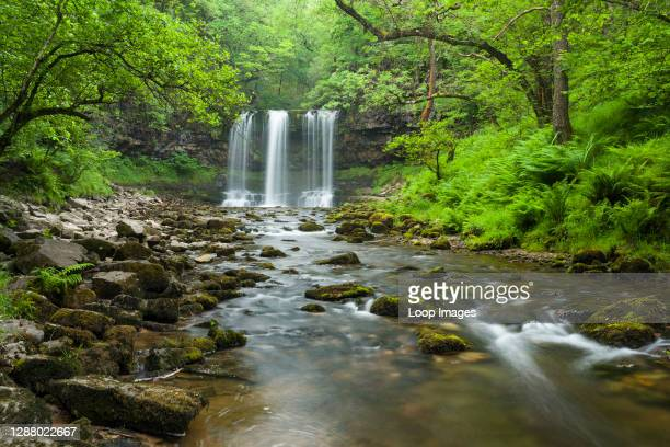 Sgwd yr Eira or Fall of Snow waterfall on the Afon Hepste river in the Brecon Beacons National Park.