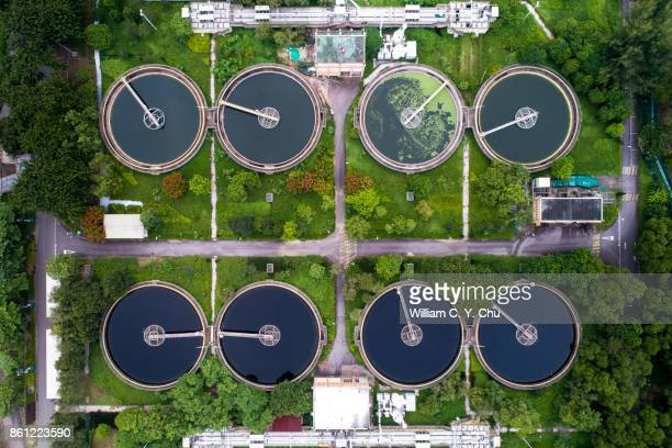 sha tin sewage treatment works, hong kong - sewer stock pictures, royalty-free photos & images