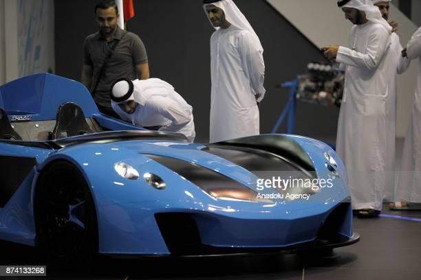 Shaali N360 is displayed during Dubai International Motor Show 2017 at Dubai World Trade Centre in Dubai United Arab Emirates on November 14 2017