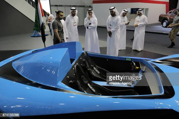 Shaali N360 is displayed during Dubai International Motor Show 2017 at Dubai World Trade Centre in Dubai United Arab Emirates on November 14 2017
