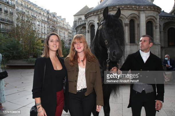 """Shaan Couture, Yamee Couture and the horse Minos attend the """"Il Medico Della Peste"""" Franck Sorbier Haute Couture Pieces Uniques AW 2020/21 Maitre..."""