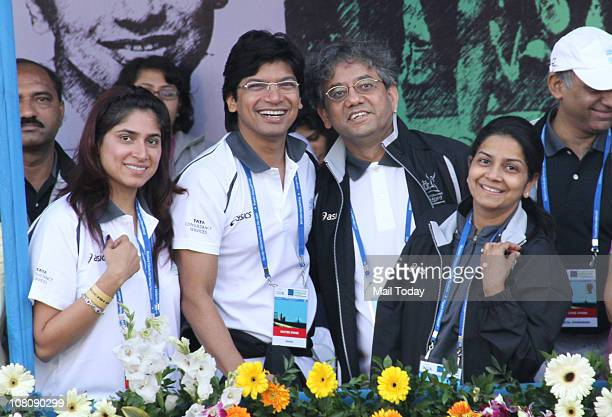 Shaan during the Standard Chartered Mumbai Marathon 2011 race in Mumbai on January 16 2011