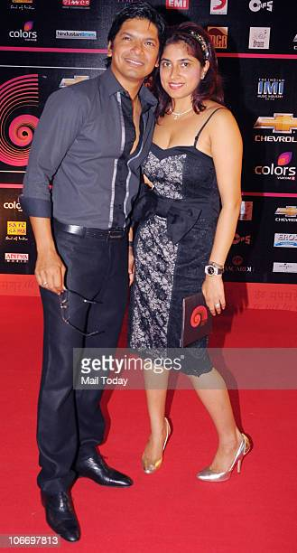 Shaan with his wife during the Global Indian Music Awards function in Mumbai on Wednesday November 10 2010