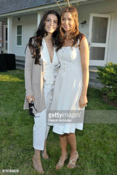Shab Siarazi and Dianne Vavra attend THE CINEMA SOCIETY DIOR BEAUTY host a screening of GREASE SingALong at Katie Lee's Beach House on July 2 2010 in...