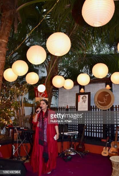 Shabana Azmi at Kaifi Ki Yaad Main an evening of live music and poetry at 25 Janki Kutir celebrating the birth centenary of her late father Kaifi...