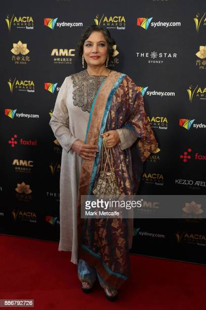 Shabana Azmi attends the 7th AACTA Awards Presented by Foxtel | Ceremony at The Star on December 6, 2017 in Sydney, Australia.