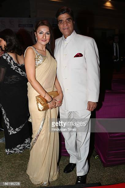 Shabanam Singhal with Suresh Nanda during Spanish Fiesta couture fashion show by Indian fashion designer Ritu Beri at residence of Spanish Ambassador...