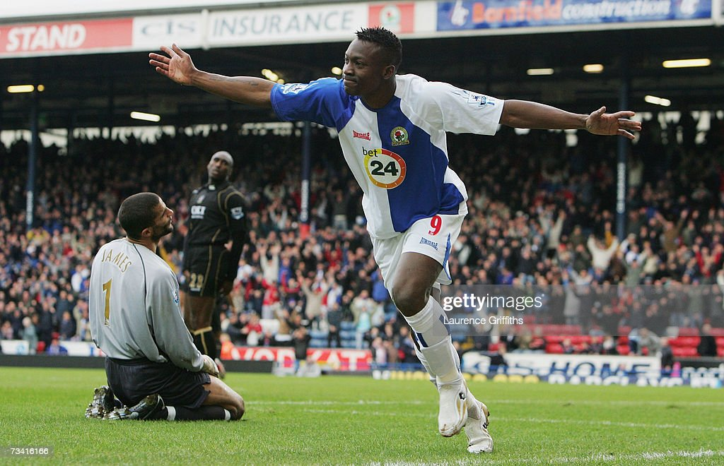 Shabani Nonda Of Blackburn Rovers Celebrates Scoring The