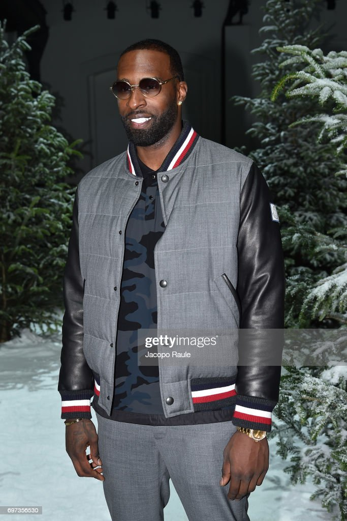 Shabazz Muhammad attends the Moncler Gamme Bleu show during Milan Men's Fashion Week Spring/Summer 2018 on June 18, 2017 in Milan, Italy.